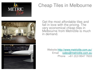 Cheap Tiles in Melbourne