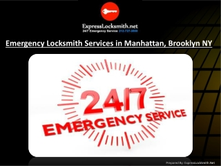 Emergency Locksmith Services in Manhattan & Brooklyn, NY