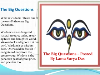 The Big Questions - Lama Surya Das