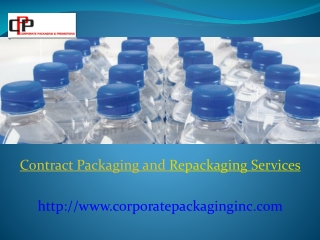 Contract Packaging and Repackaging Services