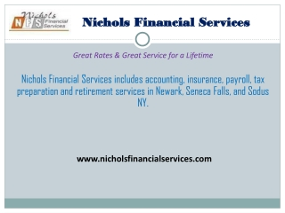 Accounting & Insurance Services in Newark, NY