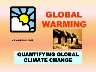 Global warming quantification