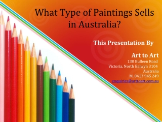 What Type of Paintings Sells in Australia?