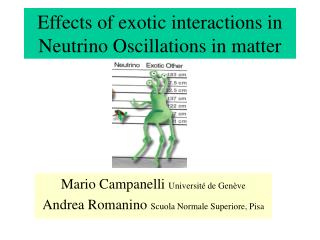 Effects of exotic interactions in Neutrino Oscillations in matter