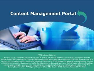 Content Management Portal