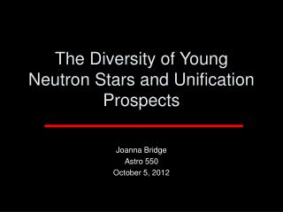 The Diversity of Young Neutron Stars and Unification Prospects
