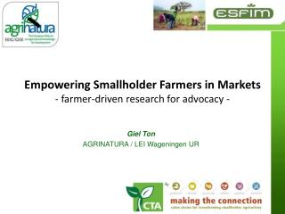 Empowering Smallholder Farmers in Markets - farmer-driven research for advocacy -