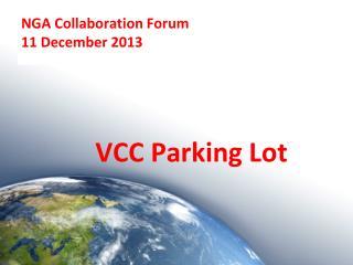 NGA Collaboration Forum 11 December 2013