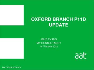 OXFORD BRANCH P11D UPDATE