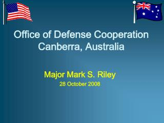 office of defense cooperation canberra, australia
