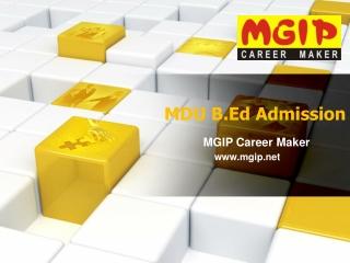 MDU Direct Admission in B.Ed 2014