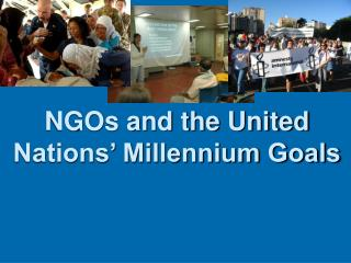 NGOs and the United Nations  Millennium Goals