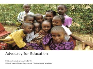 Advocacy for Education