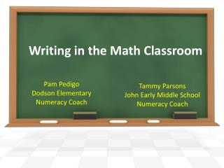Writing in the Math Classroom