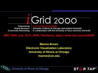 INET 2000, July 18-21, 2000, Yokohama, Japan, isoc