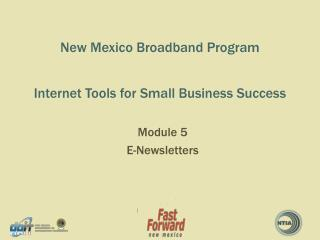 New Mexico Broadband Program   Internet Tools for Small Business Success