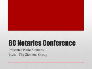 BC Notaries Conference