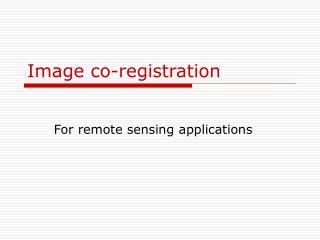 image co-registration