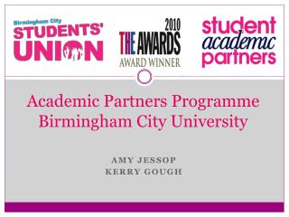 Academic Partners Programme Birmingham City University