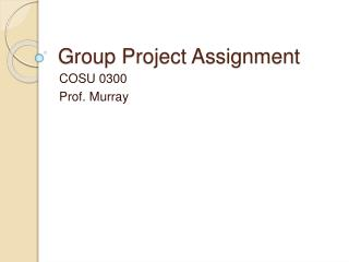 Group Project Assignment