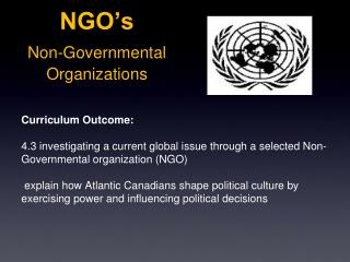 NGO s Non-Governmental  Organizations