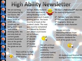 High Ability Newsletter