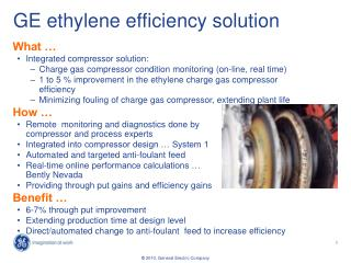GE ethylene efficiency solution