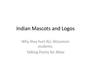 Indian Mascots and Logos