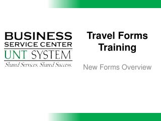 Travel Forms Training