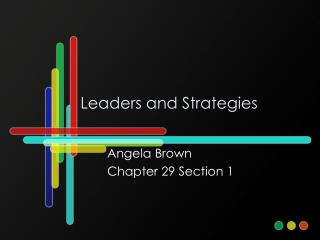Leaders and Strategies