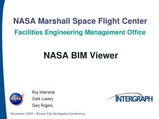 NASA Marshall Space Flight Center Facilities Engineering Management Office