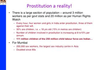 Prostitution a reality