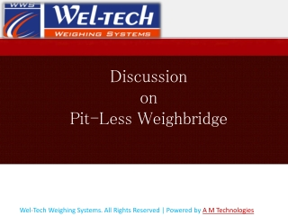Pit less weighbridge manufacturers