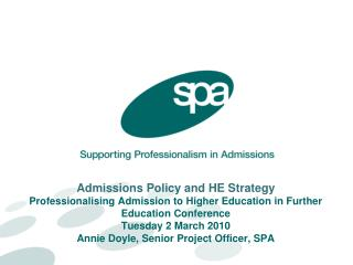admissions policy and he strategy  professionalising admission to higher education in further education conference tues