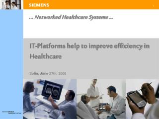 ... networked healthcare systems ...