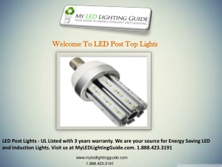 LED Post Top Lights