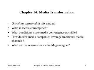 Chapter 14: Media Transformation