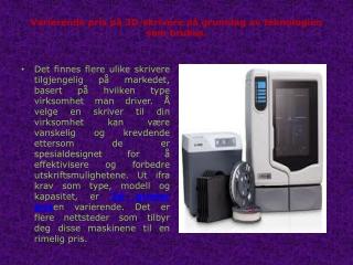 3D Printer Pris