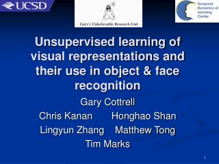 Unsupervised learning of visual representations and their use in object  face recognition