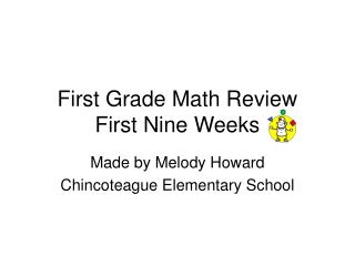 First Grade Math Review First Nine Weeks