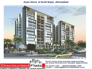 Aryan Gloria South Bopal Ahmedabad by Aaryan Builders