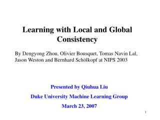 Learning with Local and Global Consistency