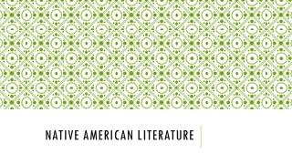 american literature: