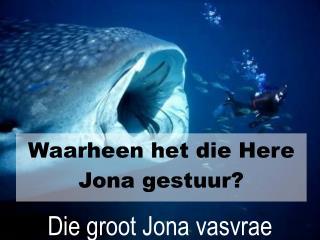 Die groot Jona vasvrae