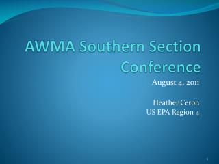 AWMA Southern Section Conference