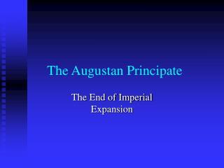 the augustan principate