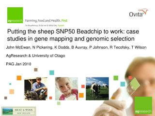 Putting the sheep SNP50 Beadchip to work: case studies in gene mapping and genomic selection