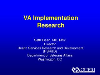 VA Implementation Research