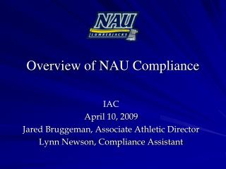 Overview of NAU Compliance