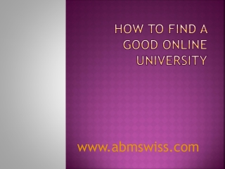 How to find a good online university
